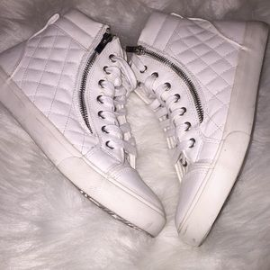 Lovely White High Top Sneakers
